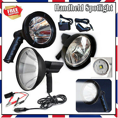 CREE T6 Handheld Spot Light Rechargeable LED Spotlight Hunting Shooting 12V