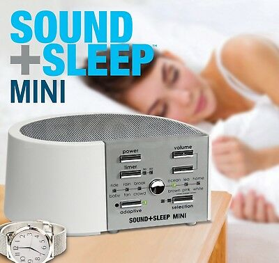 Adaptive Sound Technologies Asm1014 Sound Plus Sleep Mini Machine White Silver