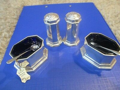 Solid Silver cruet Set London 1958 very clear hallmarks