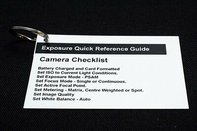 Photography Exposure Guide Pocket Sized Quick Reference. Aperture, Shutter & ISO