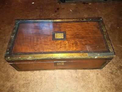 Antique Victorian writing slope for restoration or spares