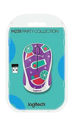 Logitech 910-004784 M238 Kabellose Wireless Mouse Maus Party Collection Cocktail