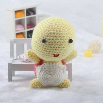 Adult Learn to Crochet Kit for Knitting Cartoon Turtle Doll Handmade Project