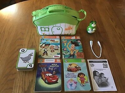Leap Frog Tag Junior Reader + Books, Cable, padded carrying storage case