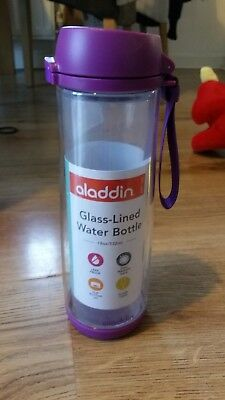 Aladdin Glass Water bottle lined with plastic (unbreakable) 18oz/532ml
