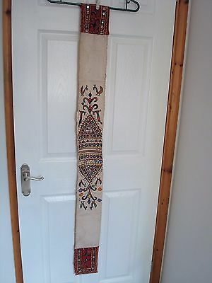 Vintage Banjara Kutchi Hand Mirrored And Embroidered Textile Sash Length 56""