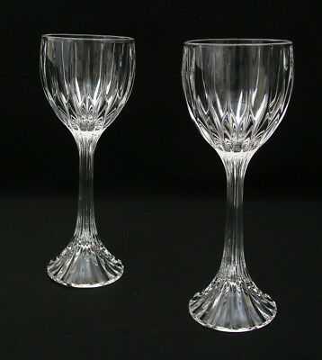 "(2) Gorgeous Mikasa Crystal - Park Lane - 8 1/4"" Wine Hocks Glasses - Excellent"