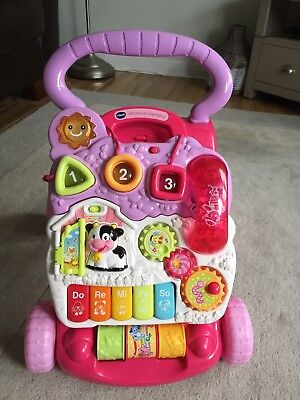 vtech first steps baby walker pink Excellent Condition