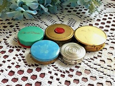 Vintage Rouge Compacts Lot Of Five