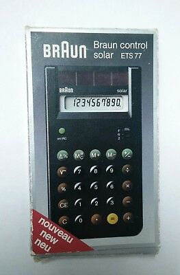 Braun ETS77 Calculator - a Dietrich Lubs and Dieter Rams classic