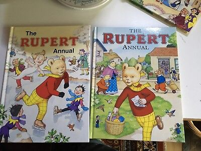 Rupert Bear Annuals No's 70 And 72 Very Good Unread Condition