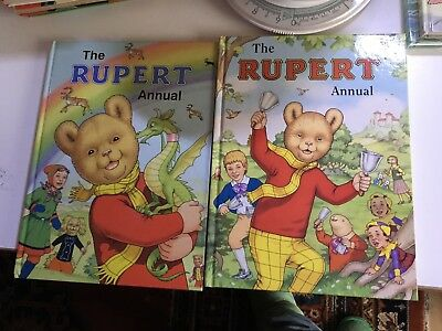 Rupert Bear Annuals No's 68 And 69 Very Good Unread Condition