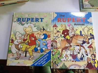 Rupert Bear Annuals No's 71 And 55 Very Good Unread Condition