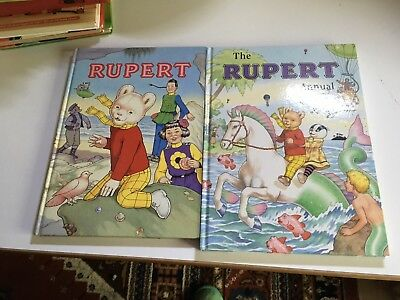 Rupert Bear Annuals No's 66 And 56 Very Good Unread Condition