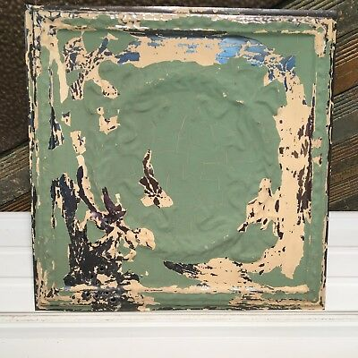 "1pc 17.5"" x 17.5"" Wreath Antique Ceiling Tin Vintage Reclaimed Salvage Art Craft"