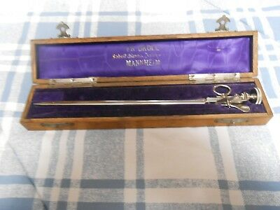 Antique SURGICAL SPREADER INSTRUMENT with Case, FR. DROLL, Mannheim RARE VG Cond