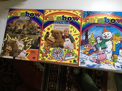 Rainbow Annuals 1988, 1989, 1990 All Except 1988 Very Good Unread Condition