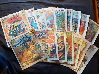 x16 2000 A.D. Vintage Comics from 1983-1984 Judge Dredd