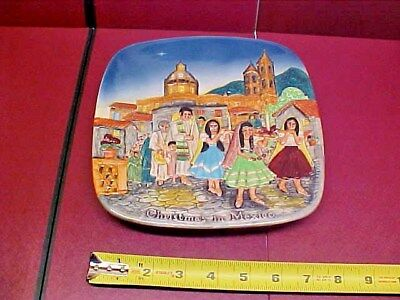 Vintage Collector Plate 1973 Royal Doulton Beswick Christmas in Mexico