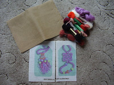 Small Bundle of Tapestry/Needlepoint items Fabric, Printed Fabric and Wools