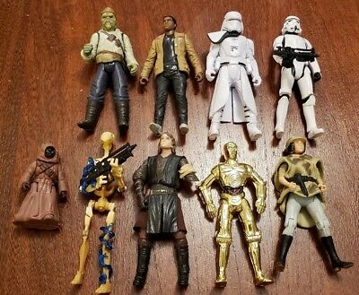Star Wars First Order Snowtrooper Storm Trooper Fin Jawa c3po Action Figures lot