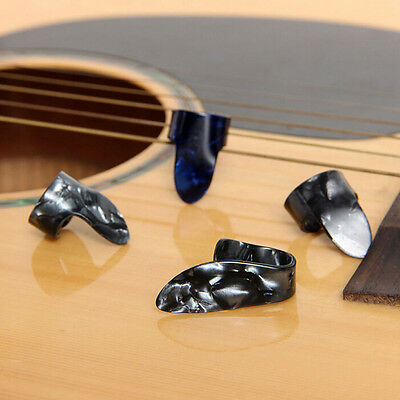 Plastic 1 Thumb And 3 Finger Nail Guitar Picks Plectrums Set  Ws