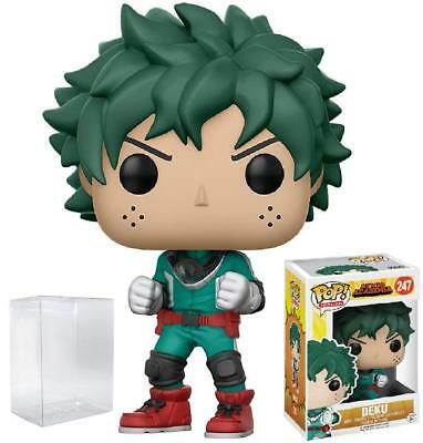 Funko Pop! Animation: My Hero Academia - Deku #247 Vinyl Figure w/ POP PROTECTOR