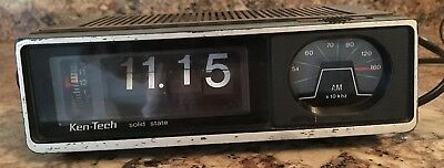 Vintage Ken Tech flip clock radio 1970s works
