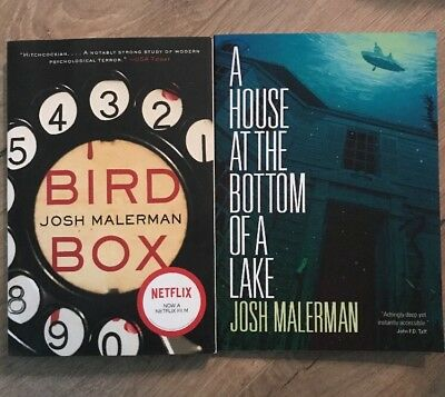 Bird Box & A House At The Bottom Of A Lake by Josh Malerman SIGNED 1st Edition