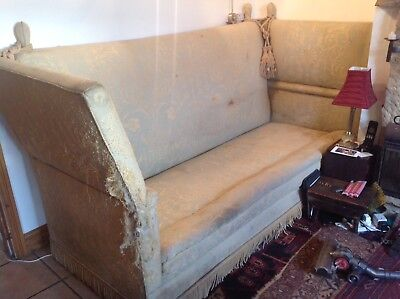 Classic country house Knowle 3 Seater drop sided sofa To Reupholster