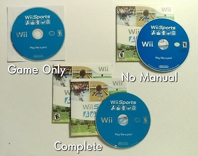 Wii Sports (Nintendo Wii, 2006) Choose your Condition - Tested & Cleaned!