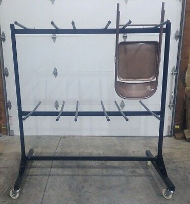 Safco 4199 Two-Tier Folding Chair Cart ~ Holds 84 Chairs