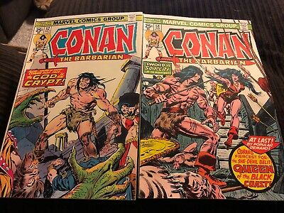 Marvel Comics Lot of 16 CONAN THE BARBARIAN Issues! Runs 100 King Conan Annuals!