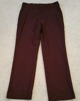 Next Boys Lovely burgundy smart trousers Age 8yrs in Vgc Hardly worn