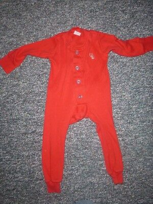 Red Flannel Factory Sleeper/union Suit/pajamas Sz 1 (12 Mos)