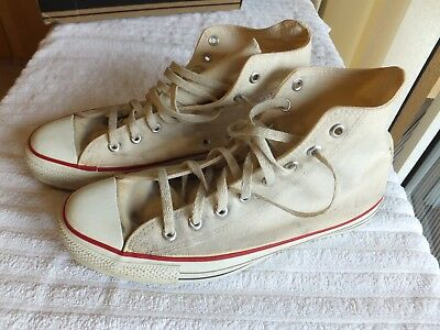 Converse Vintage Mens 11 Made in USA Unbleached White