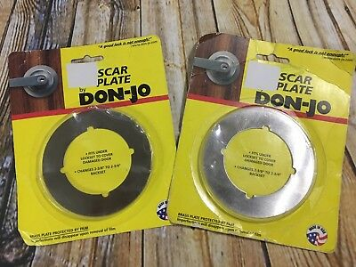 Don-Jo Scar Plate For Door Knobs 2 Count New In Package