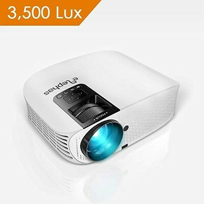 """Projector, ELEPHAS [2018 Upgraded Version] 1080P 200"""" LCD Video Projector"""