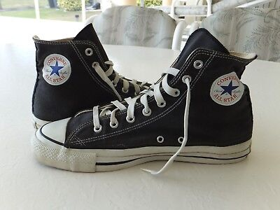 Converse Vintage Mens 10.5 Made in USA Black High