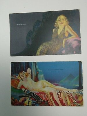 Two original Mutoscope cards (Pin-ups pinups) from the 1950's vintage