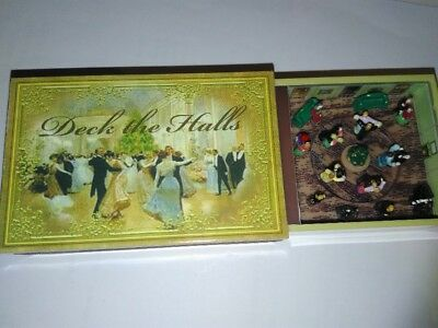 MR CHRISTMAS Gold Label MATCHBOX Melodies Music Deck the Halls