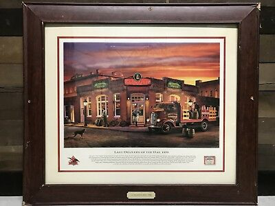 "Budweiser Beer Framed Print "" Last Delivery Of the Day 1938"""