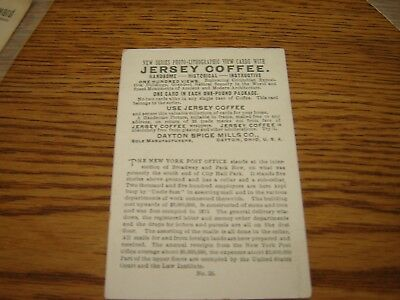 VICTORIAN TRADE CARD JERSEY COFFEE new york city series post office
