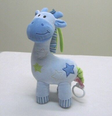 Linzy Blue Giraffe Musical Pull Plush Crib Toy Twinkle Twinkle Little Star