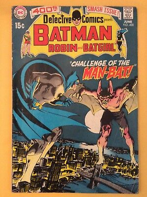 Detective Comics #400 (1St Appearance Of The Man Bat) Dc 1970 / Must See!!!