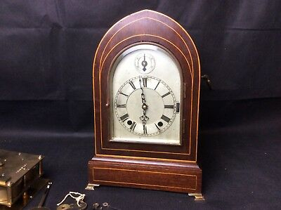 Handsome Antique Bracket Clock For Restoration