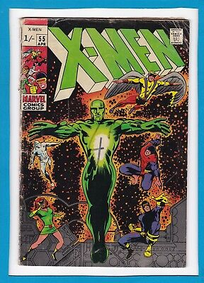 X-Men #55_April 1969_G/vg_Alex Summers_Barry Smith Cover_Silver Age Marvel_Uk!