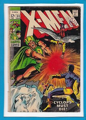 X-MEN #54_MARCH 1969_VERY GOOD MINUS_1st APP ALEX SUMMERS_BARRY SMITH COVER!