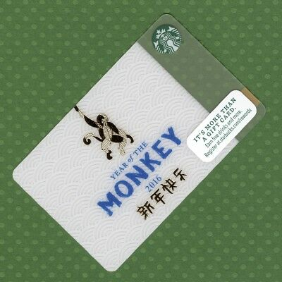 Starbucks Gift Card - Year of the Monkey 2016 © 2015 - New Unused Condition