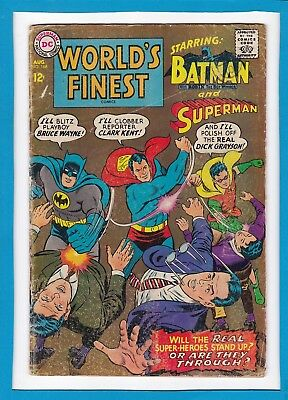 World's Finest #168_August 1967_Very Good_Superman_Batman_Silver Age Dc!